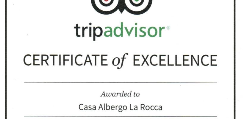 Certificato d'Eccellenza 2015